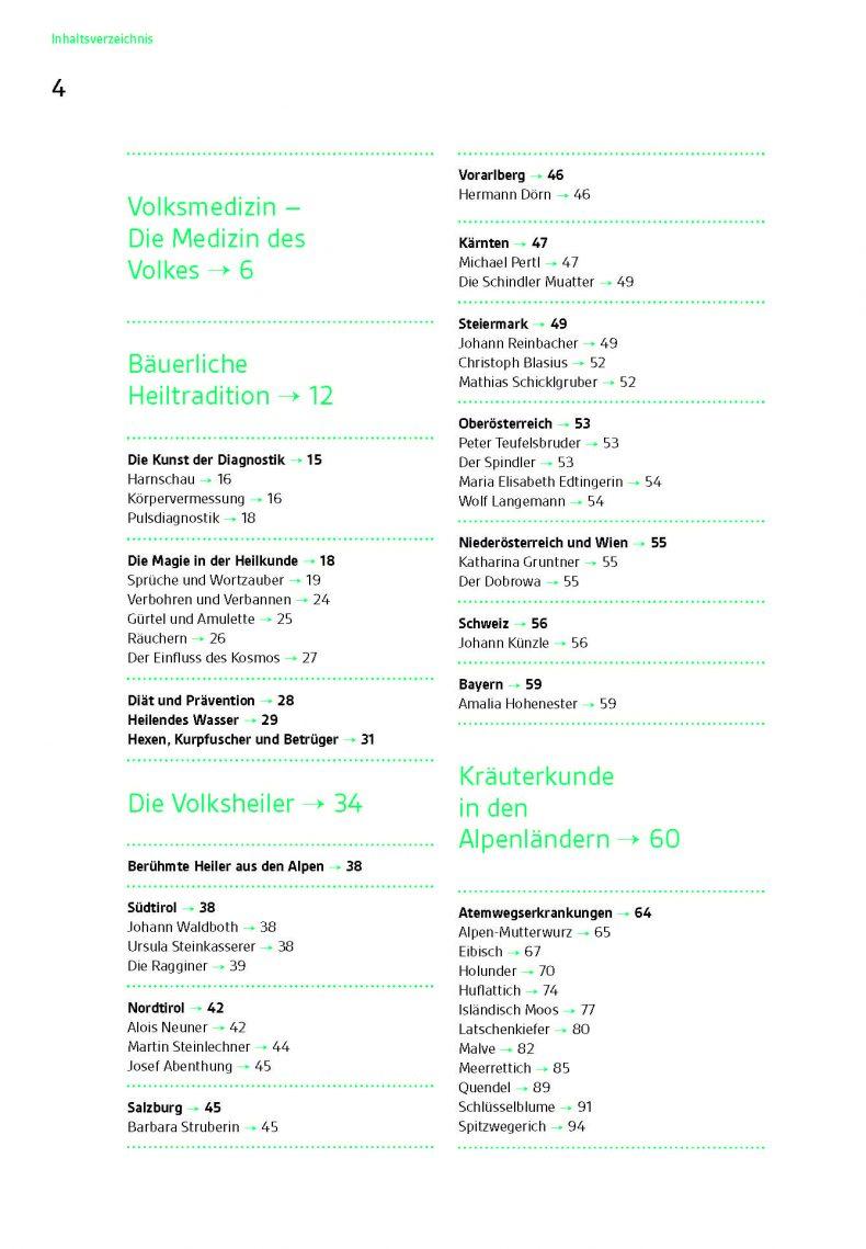Wickel Salben Tinkturen Inhaltsverzeichnis